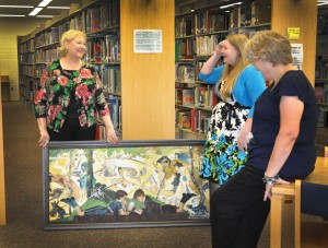 Laura donated this piece of art to the Checotah Public Library