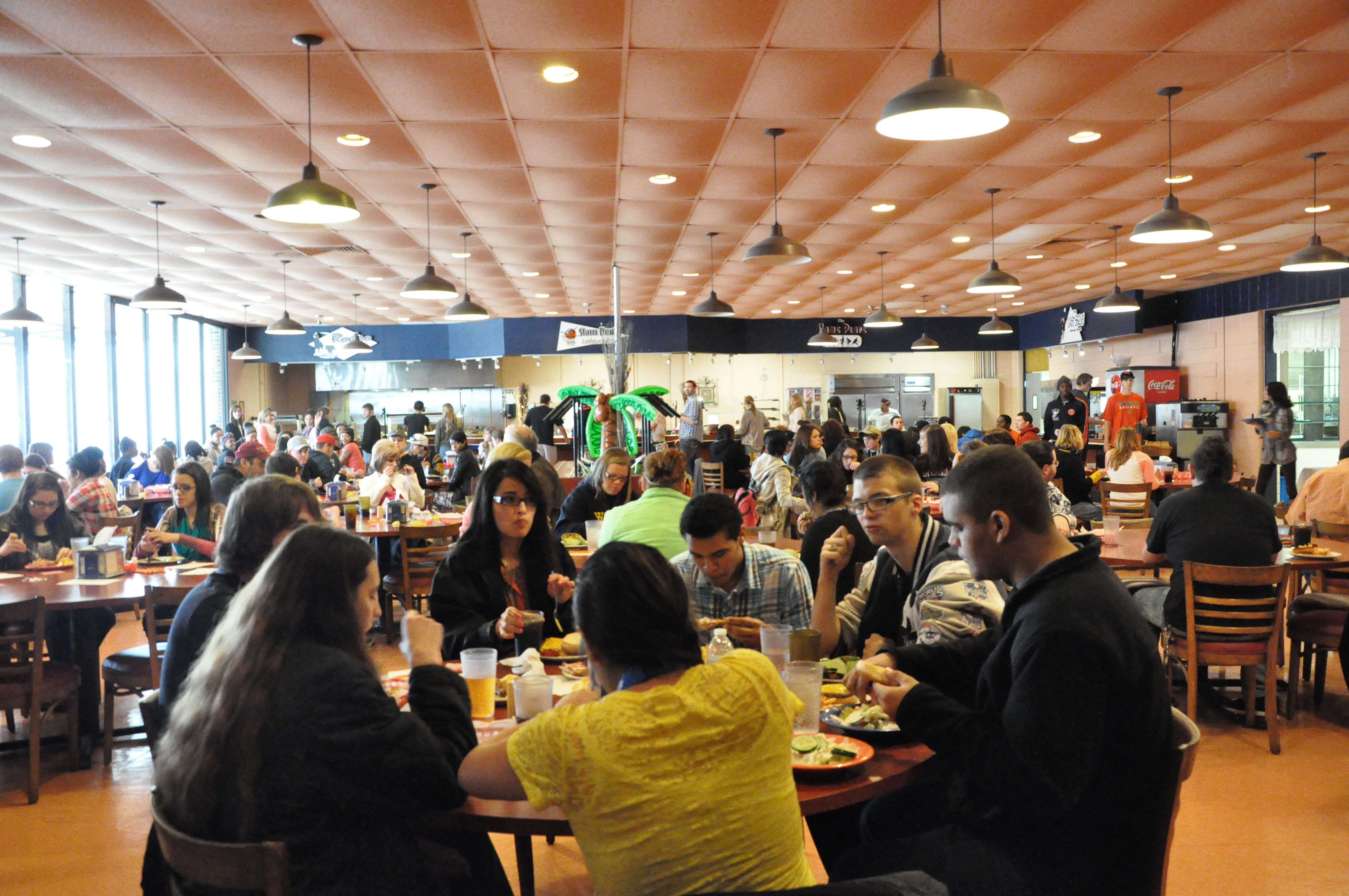 students visiting campus for senior day were treated to lunch in the campus cafeteria