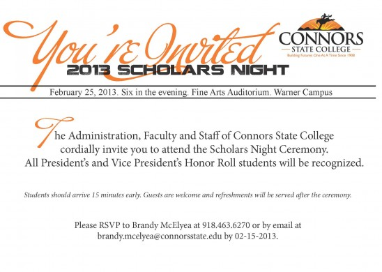 Honors Night Invite 2013