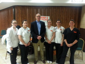 Connors State nursing students pictured with Muskogee Mayor, Bob Coburn during the 2013 Veterans Hiring Fair.