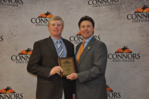 Clay Carlson, 2013 Mr. Connors is pictured with President of CSC Dr. Tim Faltyn.