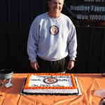 Perry Keith with 1400 Cake