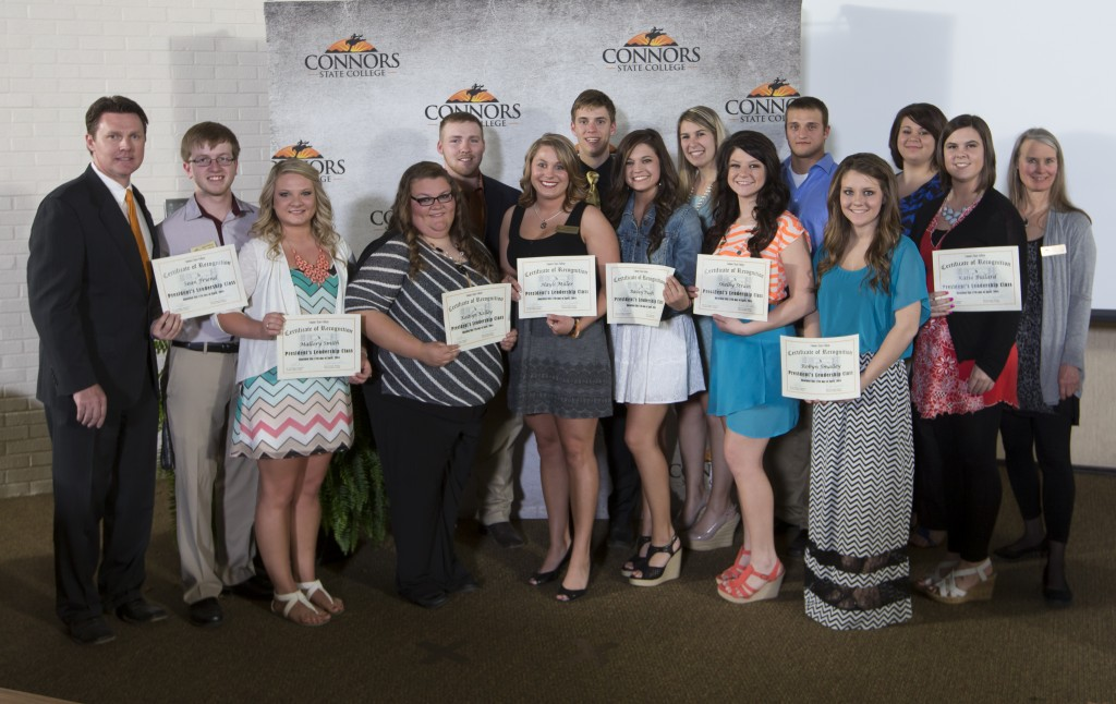 Members of the President's Leadership Class were recognized, along with several other outstanding students, at the 2014 Connors State College Honors Night.