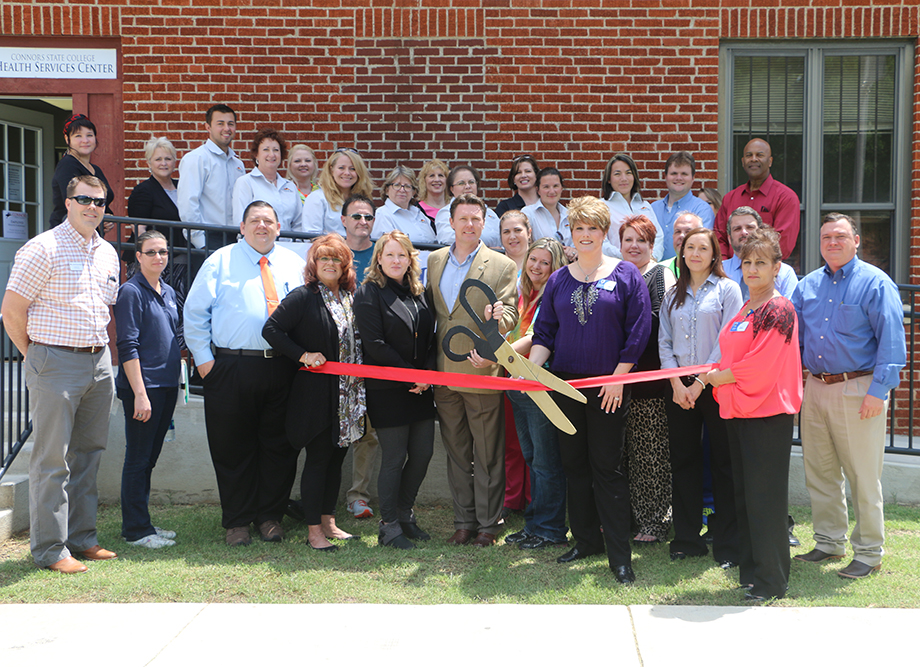 Members of the Health & Wellness Center, the town of Warner and Connors State College joined together today for a ribbon cutting ceremony honoring the opening of the Warner Health & Wellness Center.  The center is located on the Connors State College campus but is open to the public.