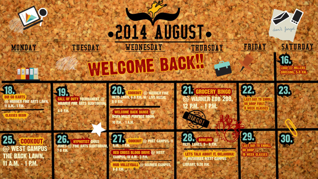 Don't miss out on fun CSC campus activities this August!