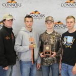 1st Place Rangeland Judging Team: Sequoyah FFA Left to right: Markus McClurg (10th Overall Individual), Tucker Hopkins (1st High Individual), Tanner Grubbs (5th Overall Individual), and Bryce Walters