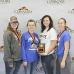 1st Place Meats Judging Team – PORTER FFA Left to right: Sam Turner (3rd High Individual), Emily Snow (5th High Individual), Baileigh Wheeler, and Mikayla Kilgore (2nd High Individual).