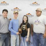 2rd Place Team – Senior Land Judging – Vian FFA Left to right: Nathan Roberts, Trayton Roberts, Sydney McWaters, and Josh Bolin