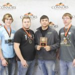 1st Place – Electricity Team – Broken Bow FFA Left to Right: Andy Janes, Peyton Talley, Brandon Browne, and Jordan Fogg.