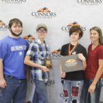 4th Place Team - Junior Land Judging – Whitesboro FFA Left to right: Braeden Richardson, Andrew Rainwater, Tegan Meador (1st High Individual), and Roxy Blagg