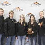 1st Place Agronomy – Burlington FFA Left to right: Gavin McCullough, Brenner Clark, Sadie Crusinberry, Caitlin Flackmon, and Collin Botta (3rd High Individual)