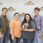 3rd Place Nursery/ Landscape – Edmond FFA Left to Right: Caleb Miller (9th High Individual), Kylee Metheny (10th High Individual), Kinsey Carpenter (8th High Individual), and Chance Myers