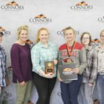 2nd Place Poultry – Lincoln FFA (Arkansas) Left to right: Cole Duplanti, Kali Brewer, Hayley Doshier, Lacie Carte (1st High Individual), Shylynn Osborne, and Shayla Fox.