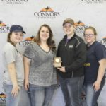 3rd Place Meats Judging – Tuttle FFA Left to Right: Brooklin Williams, Elizabeth Bailey, Kayla Moody, and Zoe Halphen.