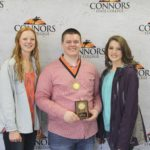 4th Place Meats Judging – Kingfisher FFA Left to Right: Morgan Yost, Colton Smith (1st High Individual), and Sydnee Gerken. Not pictured: Grant Eaton, Lane Dobrolvolny.