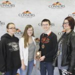 2nd Place Dairy Products – Cleveland FFA Left to Right: Christina Reed, Alanna Negelein, Samuel Worley (3rd High Individual), and Kristen Brian.