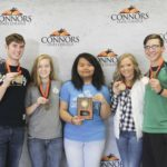 1st Place Vet Science – Jenks FFA Left to Right: Matt Girard (1st High Individual), Madison Salach (3rd High Individual), Esther Niang, Jenna Edwards (5th High Individuals), and Mason Goodman (4th High Individual).