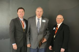 (L-R) Dr. Tim Faltyn, CSC President, James Cagle, Alumni Hall of Fame Inductee, Joe Gill, CSC Alumni President.