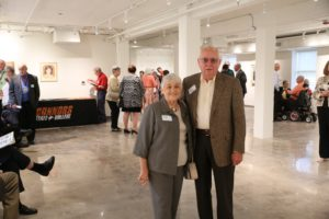 Ken Ogdon and wife Joyce at the opening of the Ken Ogdon Connors State College Museum in the north wing of Russell Hall.