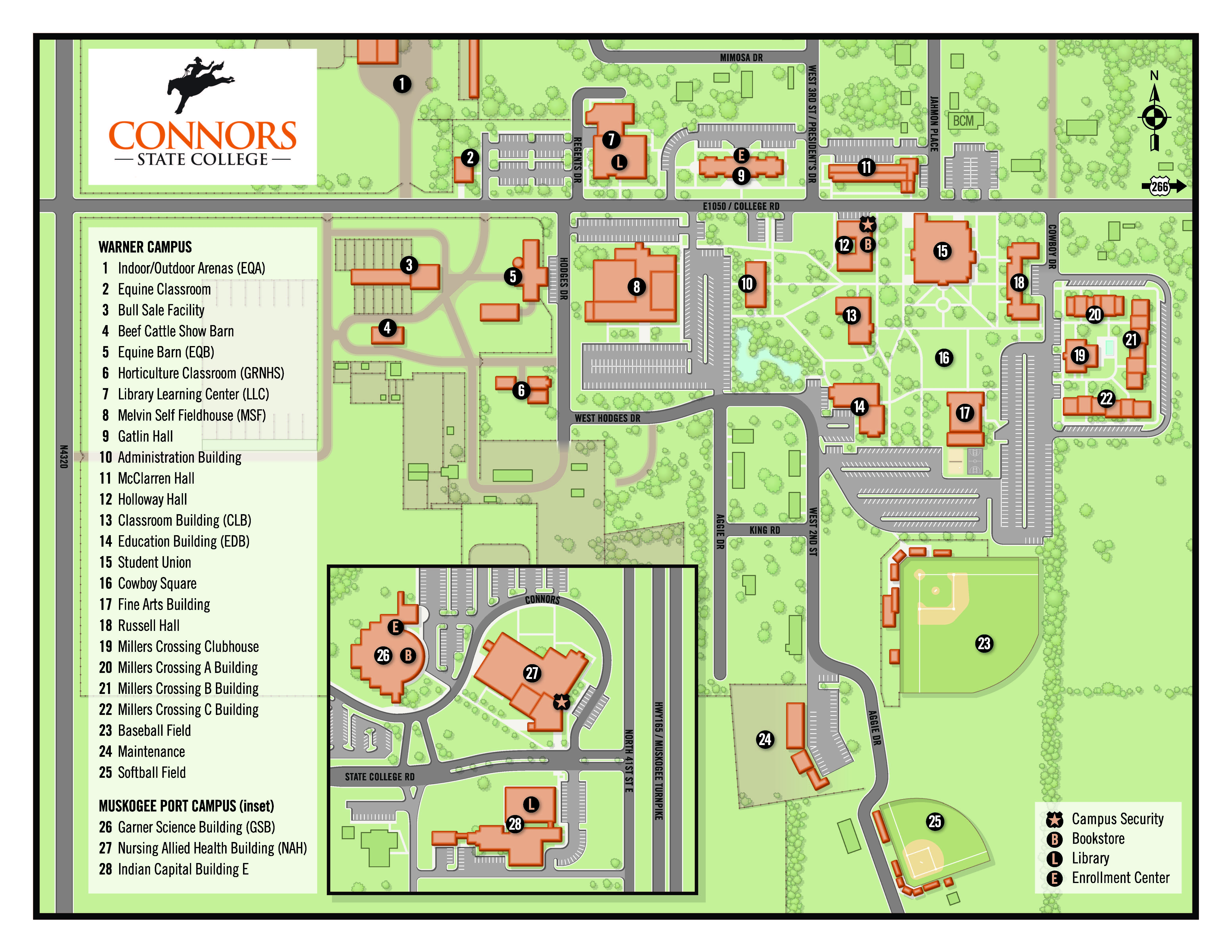 Map: Warner Campus | Connors State College