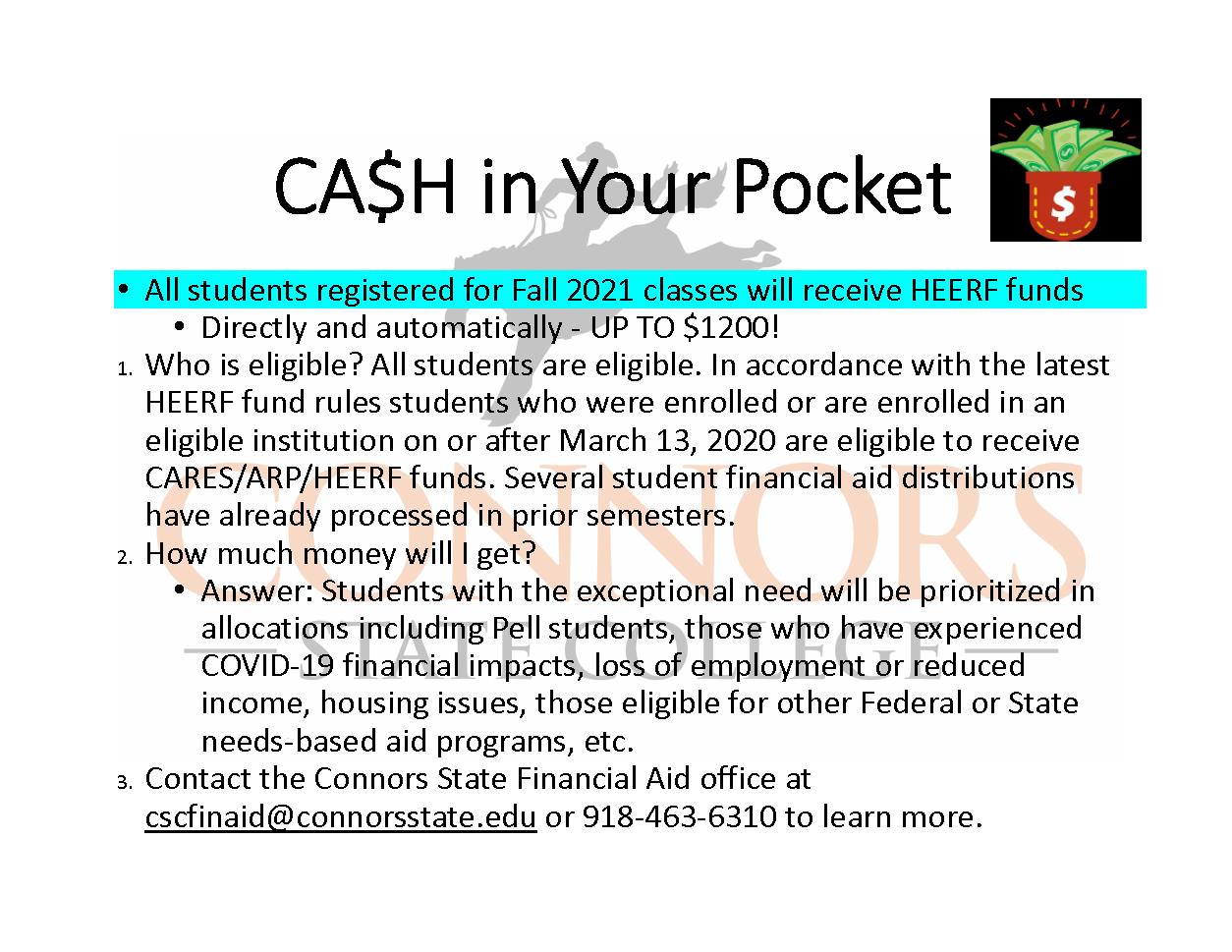 Cash in Your Pocket